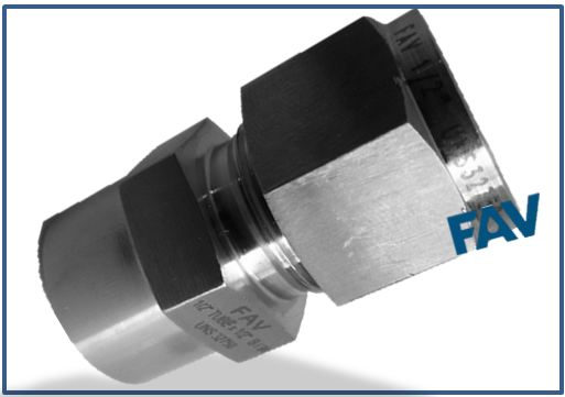 Male connector socketweld sw double ferrule compression