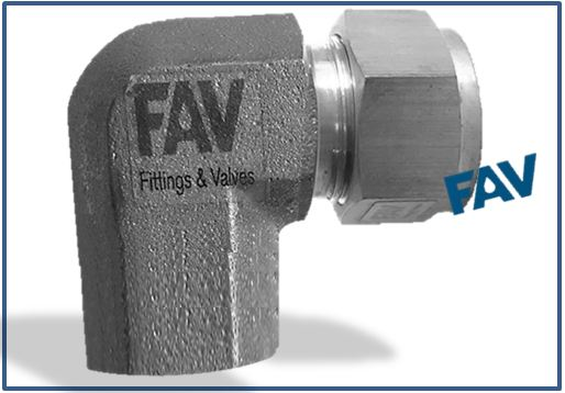 Female elbow double ferrule compression tube fittings