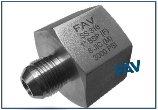 Adaptor JIC Male X BSP/NPT Female
