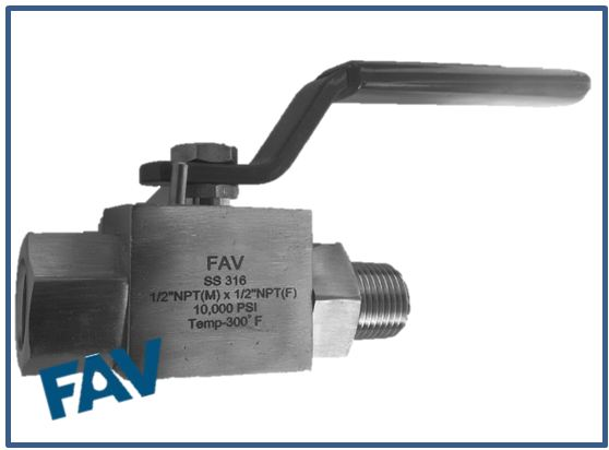 Ball Valve Male X Female 10000 psi