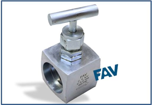 Stainless Steel Needle Valve Socket Weld Connection, Barstock Body