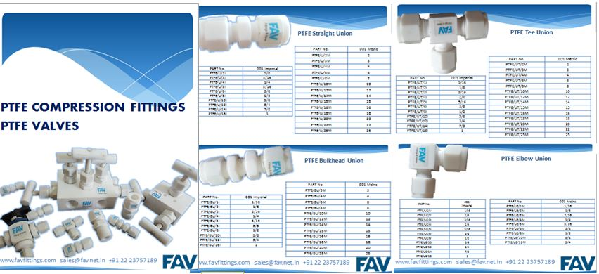 PTFE Fittings Catalogue PDF