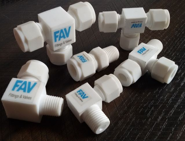 Ptfe compression fittings and valves teflon tube