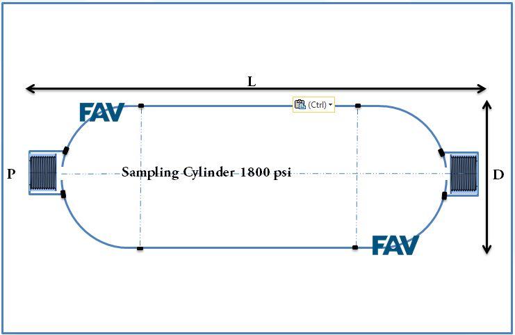 SS Sampling Cylinder