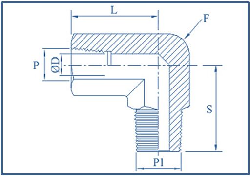 Pipe Elbow Male X Female - FAV Fittings and Valves