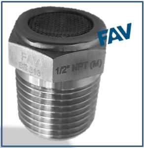 Vent Protector Plug 12 NPT Male - FAV Fittings and Valves