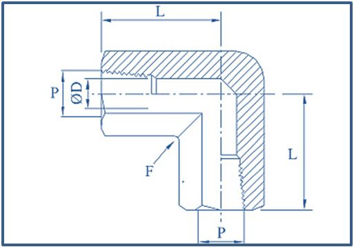 Brass Elbow-Precision Pipe Fittings & Double Ferrule Compression