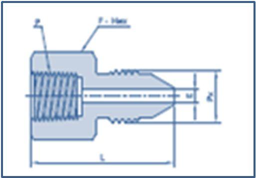 Female NPT Threads to Medium Pressure MP Male Adapter