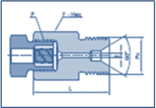 High Pressure HP Female to Type M Male Coupling