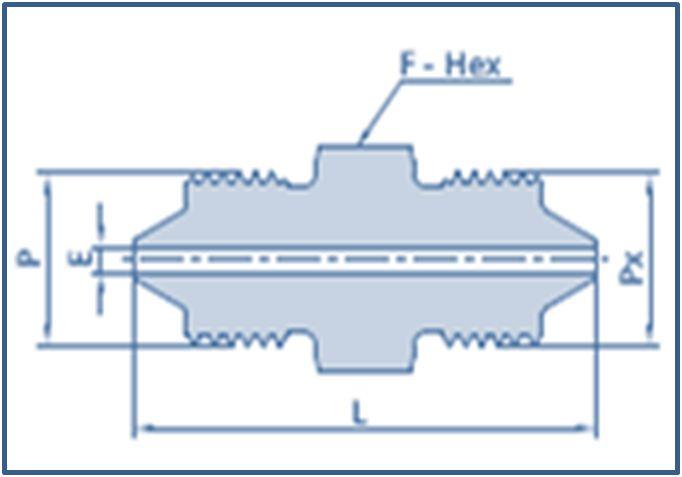 High Pressure HP Male to High Pressure HP Male Adapter 40000 psi