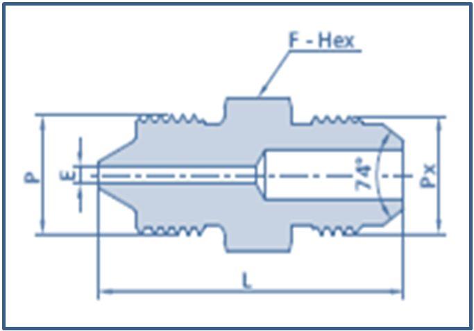 High Pressure HP Male to Male JIC Adapter