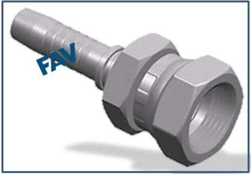 Hose Fitting (JIS Gas Female 60° Seat JIS B8363) - JIS GAS FEMALE 60°CONE
