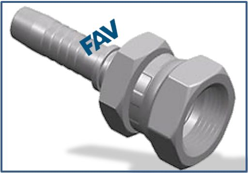 Hose Fitting (JIS Metric Female 60° Cone Seat) - JIS METRIC FEMALE 60°CONE SEAT