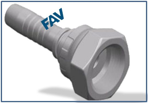 Hose Fitting (Metric Female Flat Seat) - METRIC FEMALE FLAT SEAT