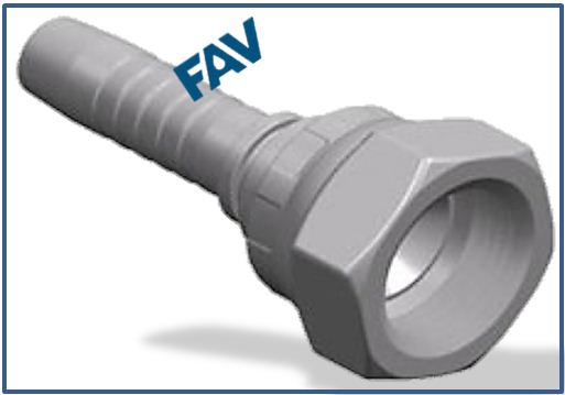 Hose-Fitting-Metric-Thread-74°-Fitting-GB-METRIC-FEMALE-74°CONE-SEAT