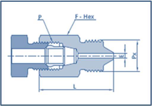 Low Pressure LP Female to High Pressure HP Male Adapter