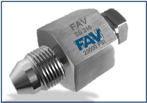 Low Pressure LP Female to Medium Pressure MP Male Adapter 15000 psi