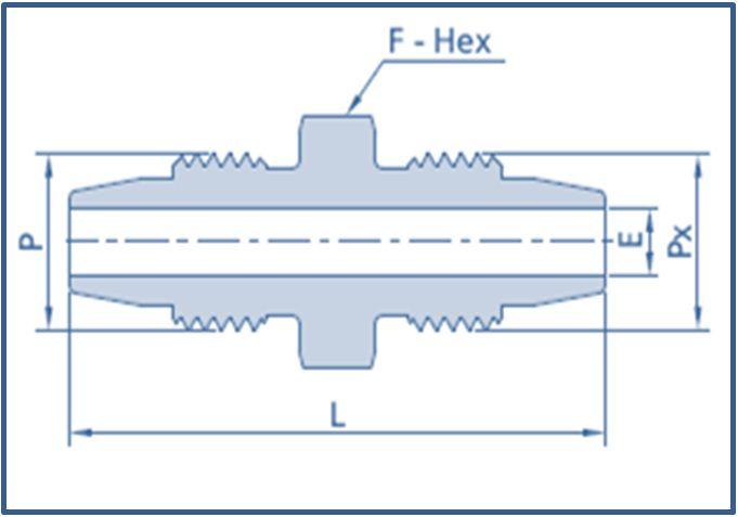 Low Pressure LP Male to Low Pressure LP Male Adapter 10000 PSI