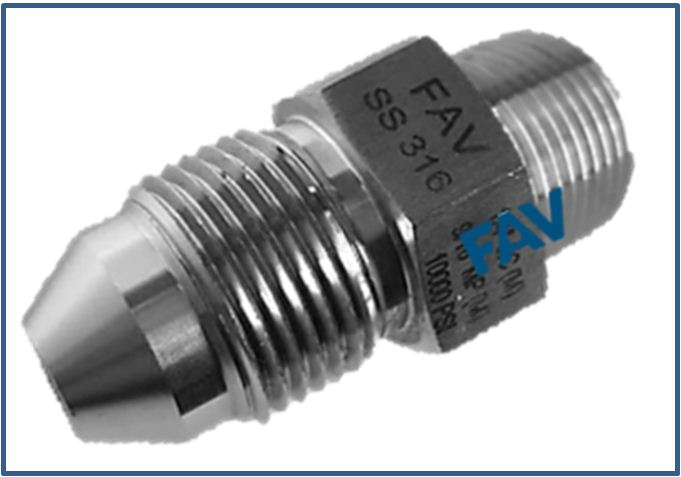 Low Pressure LP Male to Type M Male Adapter 10000 psi