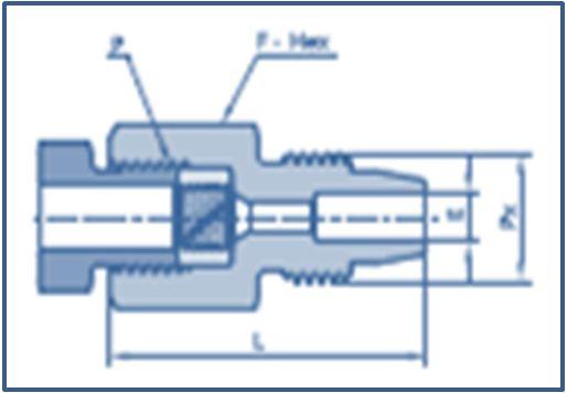 Medium Pressure MP Female to Low Pressure Male