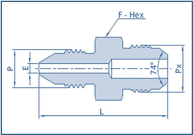 Medium Pressure MP Male to Male JIC Adapter