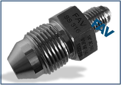 Medium Pressure MP Male to Male JIC Adapter 15000 psi