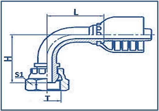 One-piece-Hose-Fitting-BSP-Thread-60°-Cone-Fitting-90°ELBOW-BSP-FEMALE-60°CONE