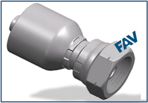 One piece Hose Fitting (BSP Thread 60° Cone Fitting) - BSP FEMALE 60°CONE