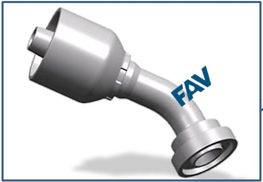 One-piece-Hose-Fitting-SAE-Flange-Series-45°ELBOW-SAE-FLANGE-3000PSI