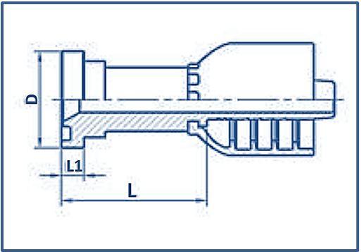 One-piece-Hose-Fitting-SAE-Flange-Series-SAE-FLANGE-3000-PSI-