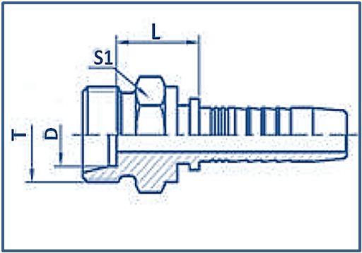 Hose Fitting Metric Thread 24° Cone Series METRIC MALE24°CONE SET L.T.