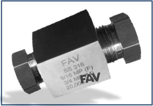 Medium Pressure MP Female to Low Pressure LP Female Adapter 15000 psi
