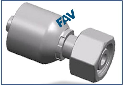One piece Hose Fitting Metric Thread 24° Cone Series METRIC FEMALE 24°CONE O RING H.T.