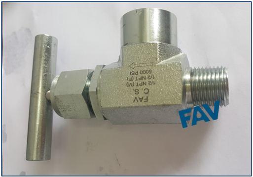 Stainless Steel Angle Needle Valve 5000 psi
