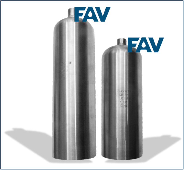 Single Ended Sampling Cylinders with Flat End for Stand Mounting