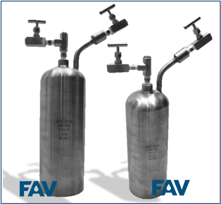 One End Sampling Cylinders with Flat End for Stand Mounting