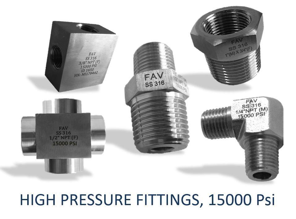 High Pressure Fittings 15000 psi