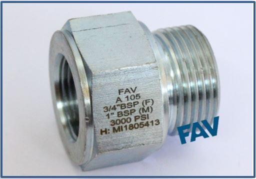 Carbon Steel A105 Hex Nipple 10000 psi ,BSP