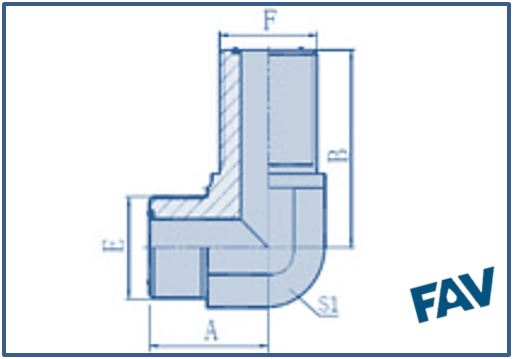 ORFS Fittings - 90º ORFS MALE BULKHEAD