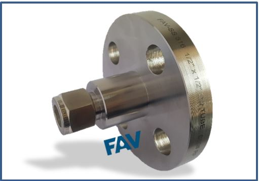 Flange to Tube Fitting Double Ferrule