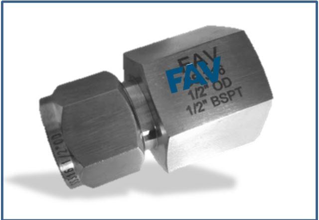 Titanium Gr 2 Female Connector