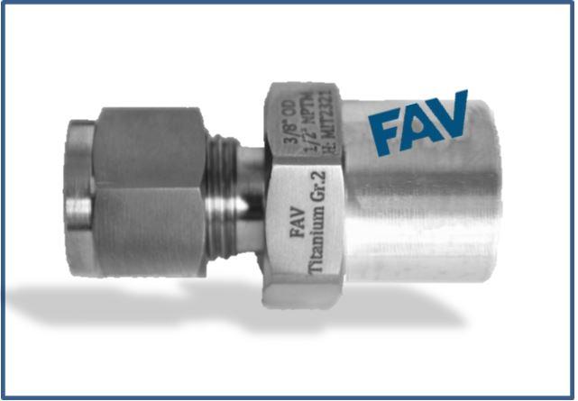 Titanium Gr 2 Male connector BW