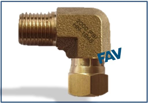 Brass Adaptor JIC female swivel x NPT male