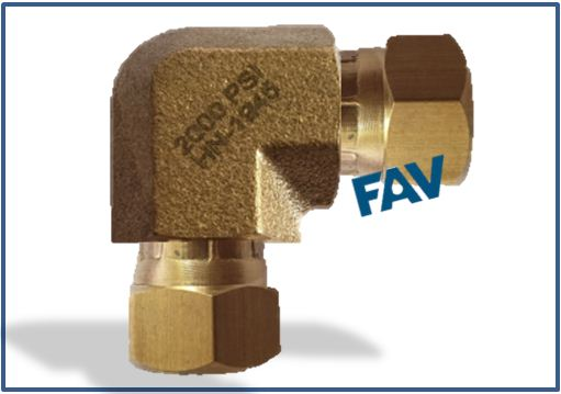Brass Elbow female swivel
