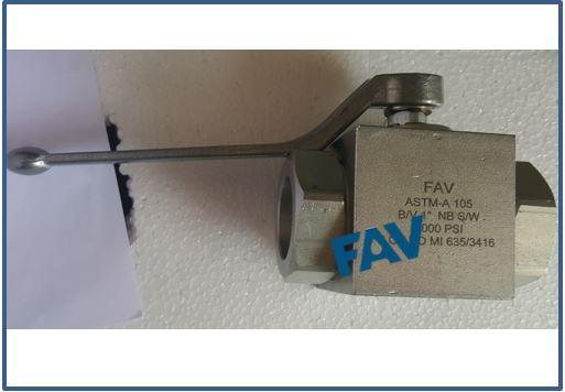 Carbon Steel A105 Ball Valve BSP Female 10000 psi