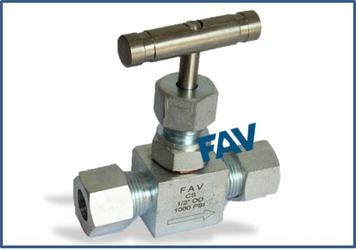 Steel Needle Valve OD 1000 psi