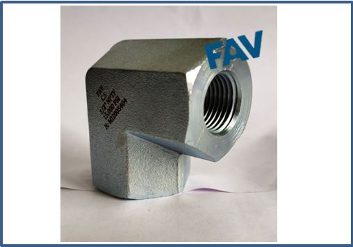 Carbon Steel A105 90 Degree Elbow NPTF 15000 psi