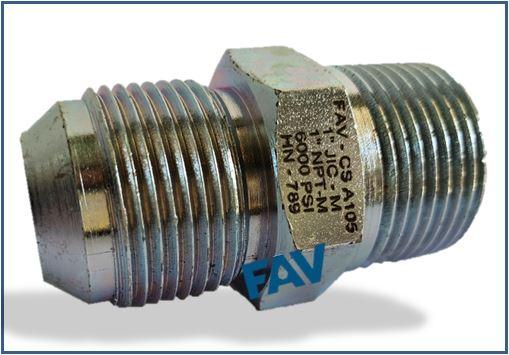 Steel A105 Hex Nipple NPT x JIC