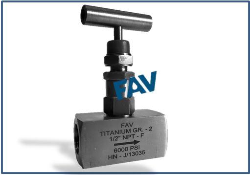 Titanium Gr 2 Needle Valve