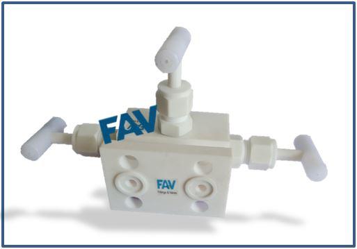 Teflon Manifold Valve T Type